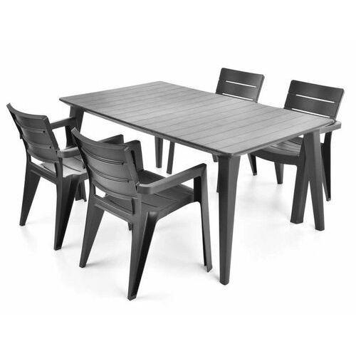 Hecht czechy Hecht anegada graphite 4 meble ogrodowe zestaw mebli ogrodowych stół + 4 krzesła - ewimax oficjalny dystrybutor - autoryzowany dealer hecht