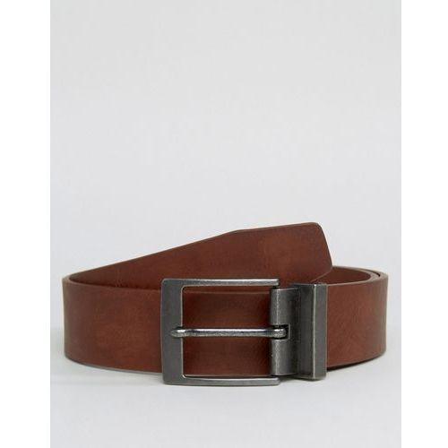New Look Belt With Gunmetal Buckle In Brown - Brown