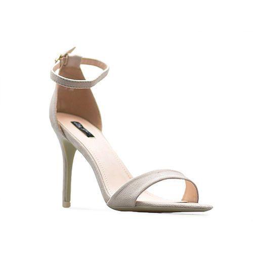 Stylowe sandały damskie Beżowe szpilki