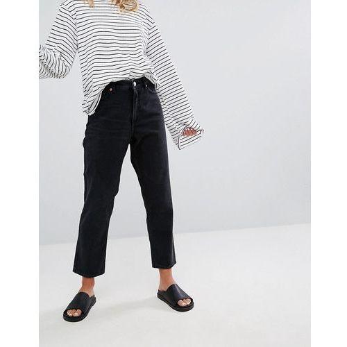 taiki high waist mom jeans - black marki Monki