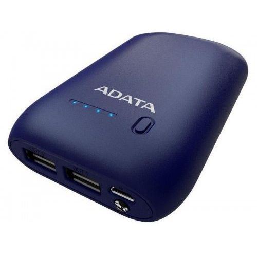 Powerbank ADATA P10050 10050 mAh 5V / 2,4 A BLUE, EF93-58302