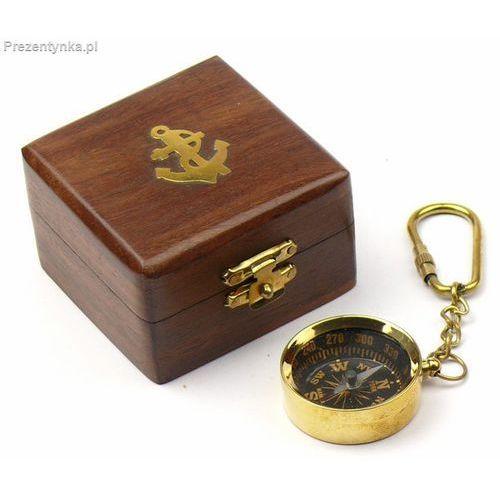 Breloczek - kompas mosiężny w pudełku