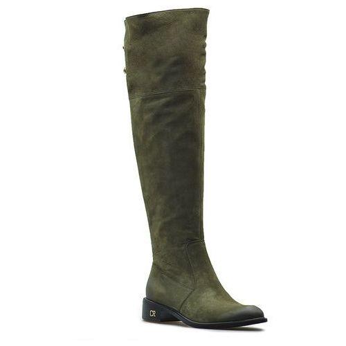 Carinii kozaki damskie b4243-i43 zielone nubuk