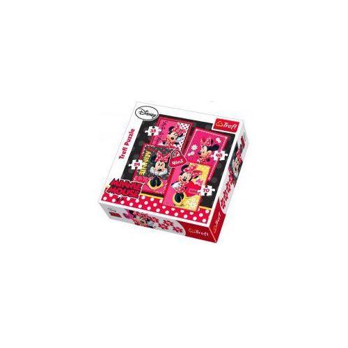 Puzzle 4 w 1 piękna myszka minnie marki Trefl