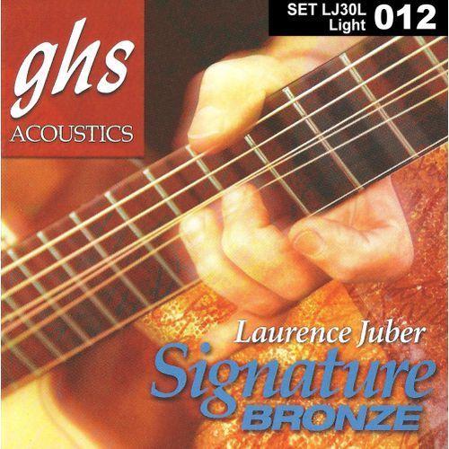 laurence juber signature bronze struny do gitary akustycznej, light,.012-.054 marki Ghs