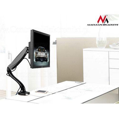 Uchwyt biurkowy do monitora czarny  mc-673 gazowa sprężyna usb 3.0 13