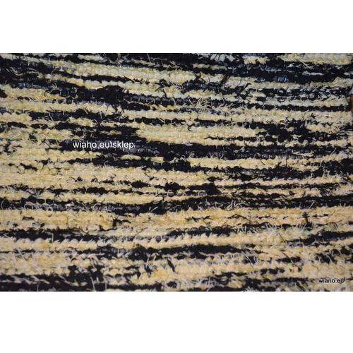 Twórczyni ludowa Chodnik bawełniany ręcznie tkany czarno-żółty 65x120 cm