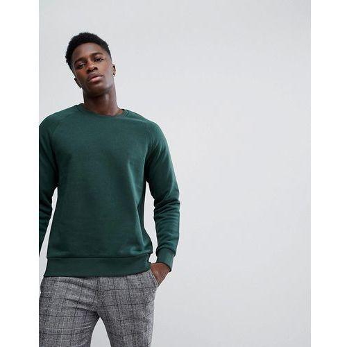 Weekday paris sweatshirt dark green melange - green