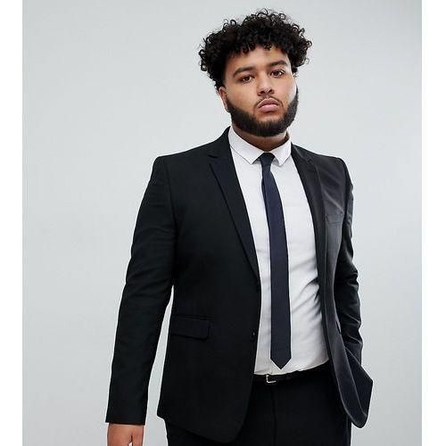 big & tall skinny suit jacket in black - black, Burton menswear