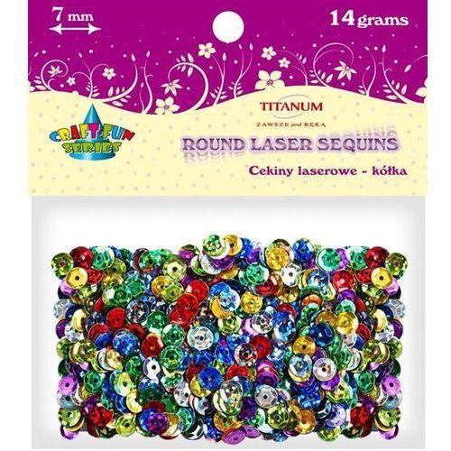 Cekiny 7mm laserowe MIX kolorów, 14 g, CRAFT-FUN - różnokolorowe