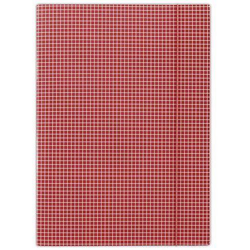Donau Teczka z gumką , karton, a4, 400gsm, 3-skrz., czerwona w kratę (5901498052456)