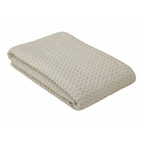 Vente-unique Narzuta na sofę fernie z gofrową fakturą – bawełna – 230 × 250 cm – kolor beżowy