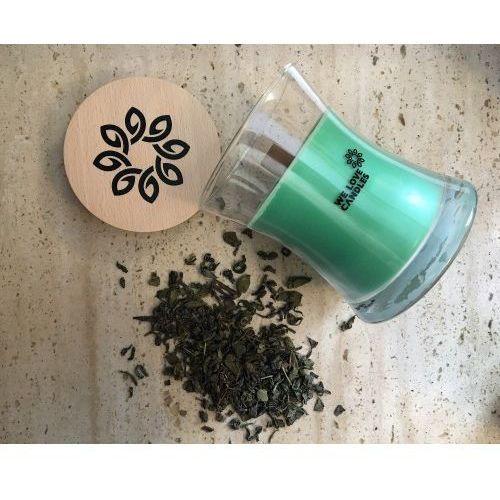 Zapachowa świeca sojowa green tea m 300 g - marki We love candles