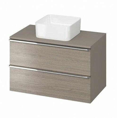 CERSANIT szafka Virgo 80 dąb szary pod umywalkę nablatową, chromowane uchwyty S522-030, S522-030