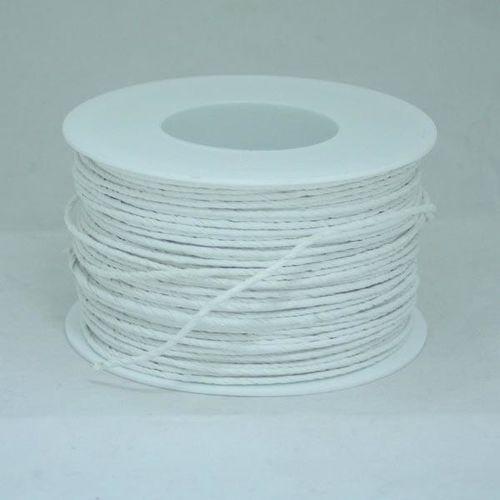 Ozdobny sznurek papierowy z drutem - biały - bia marki Creativehobby