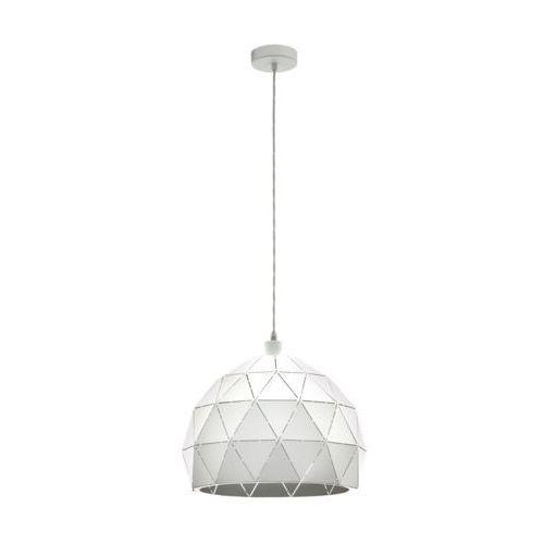 Eglo Lampa wisząca roccaforte 97855 sufitowa 1x60w e27 biała