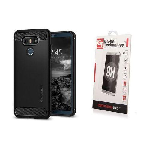 Zestaw | Spigen SGP Rugged Armor Black | Obudowa + Szkło ochronne dla modelu LG G6