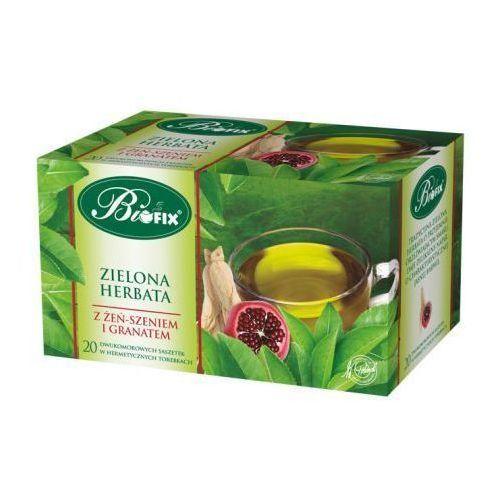 Bifix Herbata zielona ekspresowa z żeń-szeniem i granatem 40 g  (5901483101251)