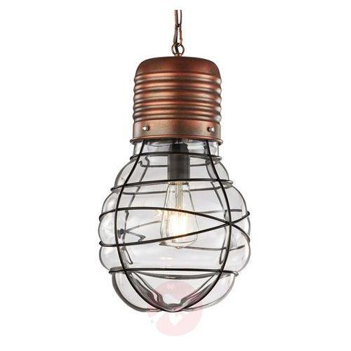 Trio EDDA Lampa wisząca Ciemnobrązowy, Miedź, 1-punktowy - Vintage - Obszar wewnętrzny - EDDA - Czas dostawy: od 4-8 dni roboczych (4017807334456)