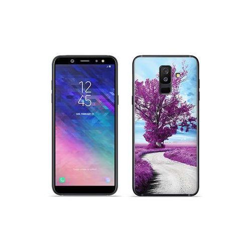 Samsung Galaxy A6 Plus (2018) - etui na telefon Foto Case - purpurowe drzewo, kolor fioletowy