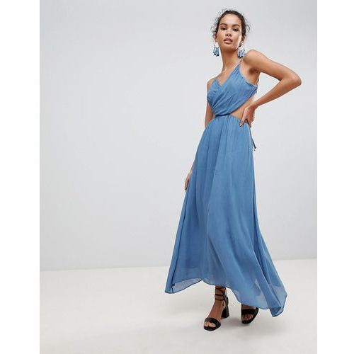 Glamorous Cut Out Cami Maxi Dress - Blue, 1 rozmiar