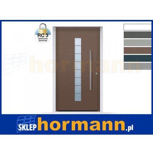 Drzwi aluminiowe ThermoSafe 2018, Wzór 503, kolor do wyboru, przeciwwłamaniowe RC 3