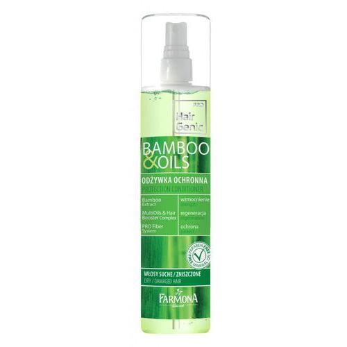 hair genic bamboo & oils odżywka ochronna do włosów spray 200ml, marki Farmona