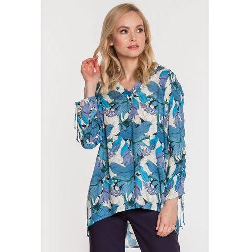 Wzorzysta bluzka - Jelonek, kolor niebieski