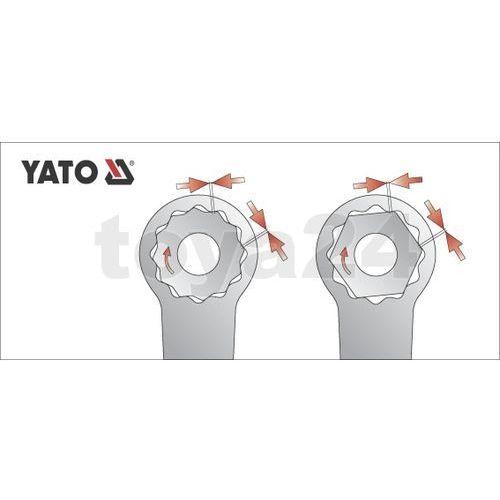 Klucz oczkowy odgięty z polerowaną główką 20x22 mm Yato YT-0390 - ZYSKAJ RABAT 30 ZŁ, YT-0390