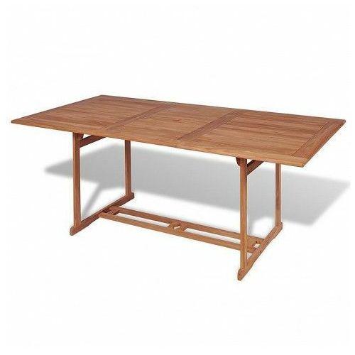 Stół ogrodowy crayon - lite drewno tekowe marki Elior