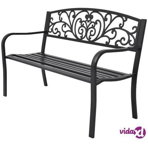 Vidaxl ławka ogrodowa, 127 cm, żeliwna, czarna (8718475973096)