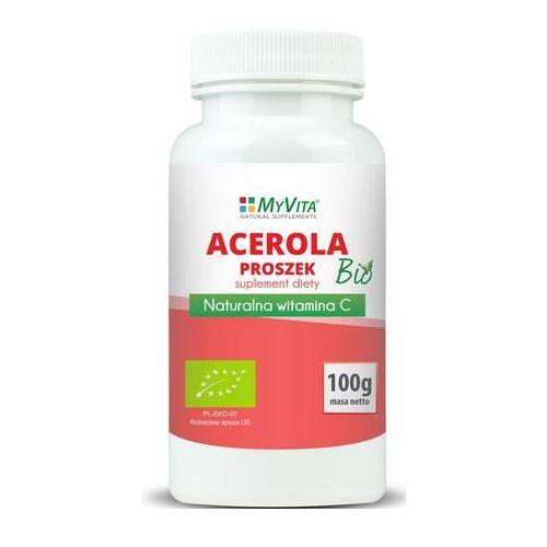 Acerola sproszkowany sok BIO 100 g (Myvita) (lek witaminy i minerały)