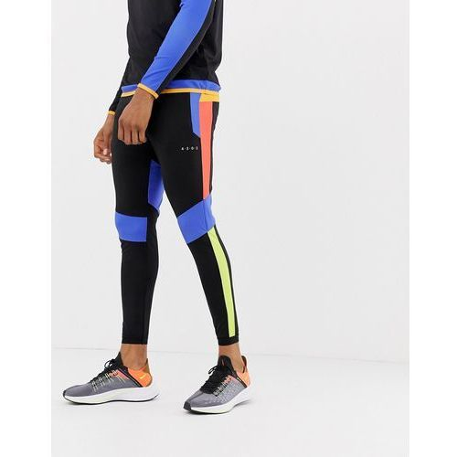 super skinny training joggers with colour block cut & sew - black marki Asos 4505
