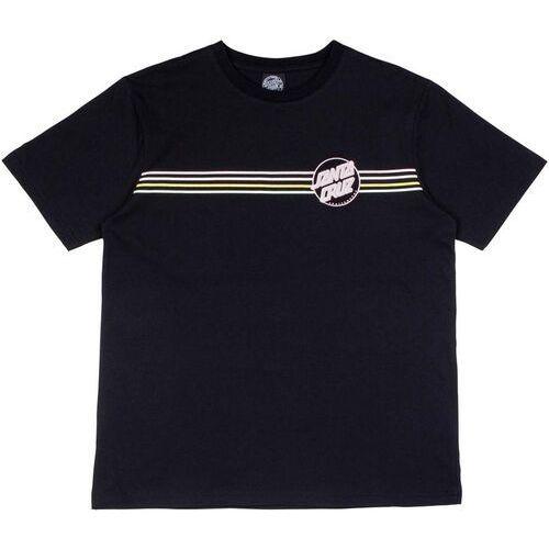 koszulka SANTA CRUZ - Opus Dot Stripes T-Shirt Black (BLACK)