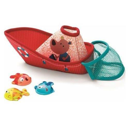 zabawki do wody, łódka z neoprenu wraz z rybkami marki Lilliputiens