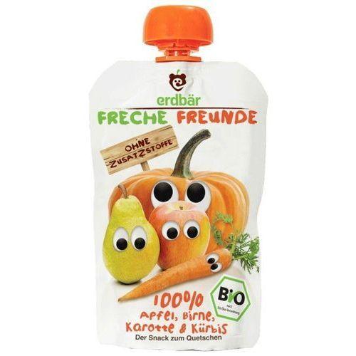 Mus do wyciskania jabłko-gruszka-marchew-dynia 100g eko erdbar dla dzieci marki 208erdbar