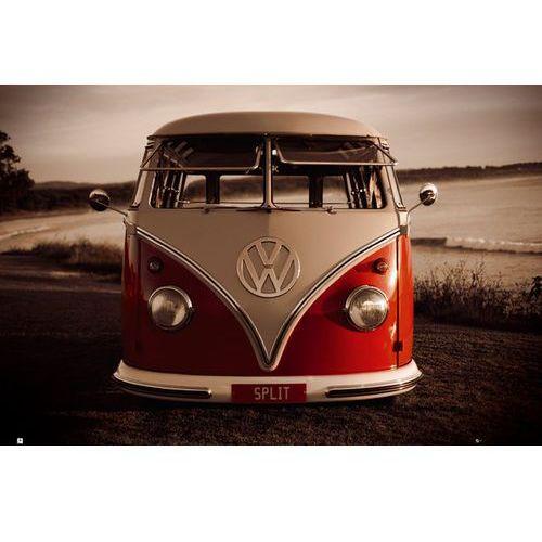 Volkswagen camper - klasyczna wersja - split screen - plakat wyprodukowany przez Gb