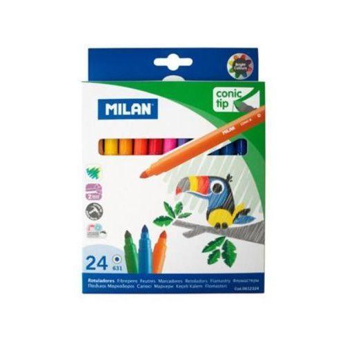 Milan Flamastry 24 kolory ze stożkową końcówką