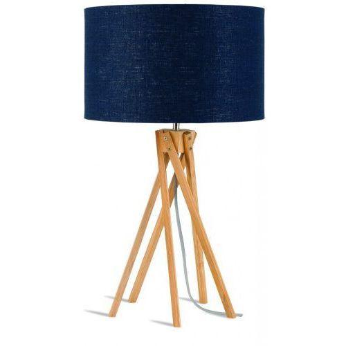It's about romi Lampa stołowa kilimanjaro 5-nożna 34cm/ abażur 32x20cm, lniany blue denim