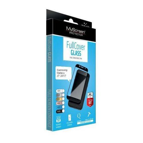 MyScreen Protector FullCover Glass Samsung Galaxy J7 2017 (czarny) - produkt w magazynie - szybka wysyłka!, kolor czarny