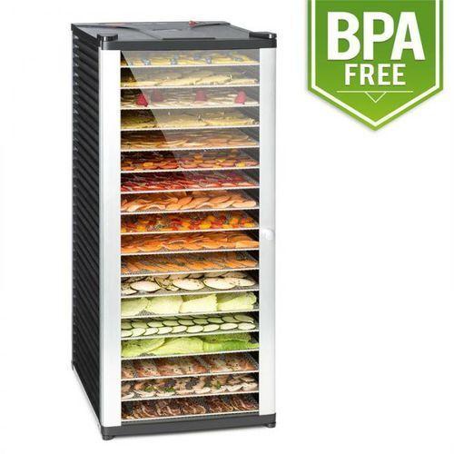 Klarstein fruit jerky 18 automat do suszenia 1000w 18 segmentów ze stali czarny