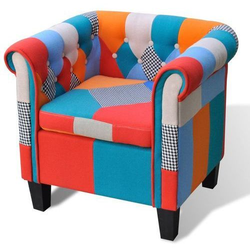 fotel patchworkowy marki Vidaxl