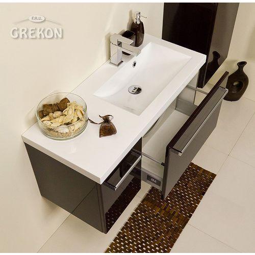 Gante Szafka łazienkowa z umywalką 90/39r fokus wenge połysk