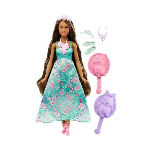 BARBIE DWH43 Dreamtopia Księżniczki kolorowe fryzury Zielona Lalka 3+