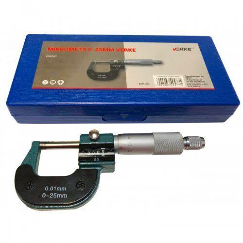 Mikrometr 0-25 zewnętrzny noniuszowy licznik marki Verke