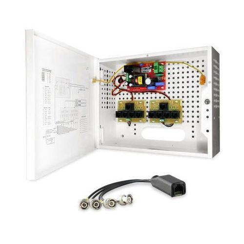 -a8/e zestaw zasilania i transmisji wideo dla 8 kamer analogowych lub hd-cvi bcs marki Bcs