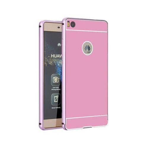 Etui bumper case aluminiowe do huawei p8 lite różowe - różowy marki 4kom.pl