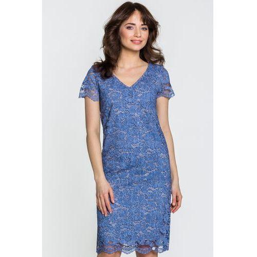 Sukienka z niebieskiej koronki - Ennywear, 1 rozmiar