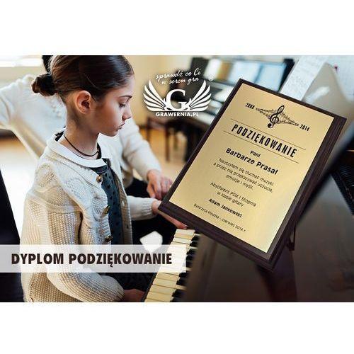 Dyplom md2 - gold - podziękowanie dla nauczyciela marki Grawernia.pl - grawerowanie i wycinanie laserem
