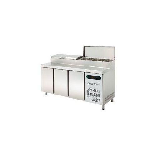 Stół chłodniczy zespolony do pizzy trzydrzwiowy 452l etpz-180 d marki Asber